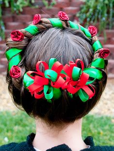 Whether you are looking for a Christmas hairstyle for a school party, an evening of caroling, an ugly sweater party, or your annual family Christmas party, there is a hairstyle here that you're going to love.