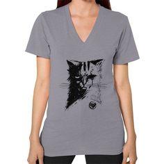 Stray Cat V-Neck (on woman)