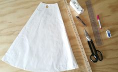 How to add flare to a skirt pattern