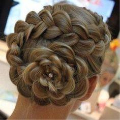 Beautiful spiral braid!