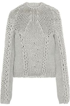 Alexander Wang | Chunky-knit cotton-blend sweater | NET-A-PORTER.COM