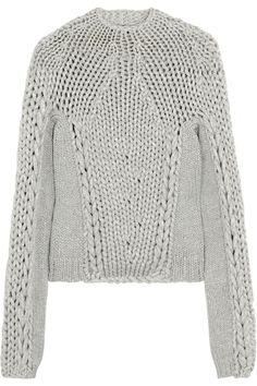 Alexander Wang   Chunky-knit cotton-blend sweater   NET-A-PORTER.COM