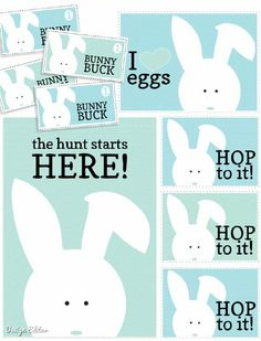 Easter Egg Hunt Printables - 40 Crafty Easter Printables for Perfect Holiday Projects