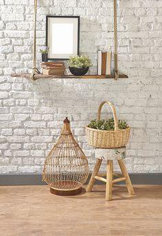 Este tipo de revestimento combina com os mais diversos tipos de decoração, desde as mais clássicas passando por algo mais moderno.