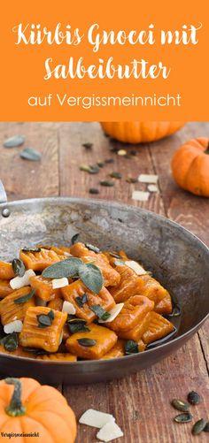 Leckere vegetarische Kürbis Gnocchi einfach selbstgemacht. Die Nudeln sind nicht sehr aufwändig und schmecken sehr lecker zu Salbeibutter.