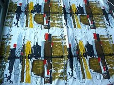 vintage textile attributed to Felix Topolski for David Whitehead late early influenced by jackson Pollack. Textile Patterns, Textile Design, Pattern Print, Print Patterns, Lucienne Day, Retro Fabric, Vintage Textiles, Textile Artists