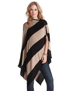 <ul> <li>Ultra soft and cosy bamboo wool blend</li> <li>Poppers for fastening at the shoulder</li> <li>Versatile style – multiple ways to wear</li> </ul> <p>Nursing on the fly is no problem at all - our stylish nursing shawl in an edgy diagonal stripe has got you and your baby covered! We've blended the very softest hypoallergenic bamboo fiber with natural wool and cotton to create this cozy shawl, to keep you and baby warm, while allowing skin to breathe – perfect for discreet…