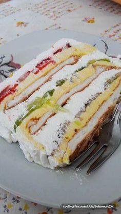 Torta Recipe, Cake Receipe, Torte Recepti, Kolaci I Torte, Baking Recipes, Cookie Recipes, Dessert Recipes, Other Recipes, Sweet Recipes