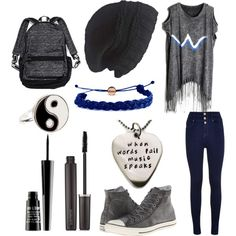 hamster days by onecoolone on Polyvore featuring polyvore fashion style Converse Victoria's Secret Domo Beads Accessorize Laundromat Laura Mercier Lord & Berry