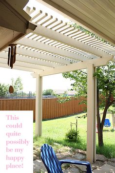the pergola look i am going for