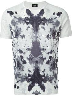Fendi Mirrored Paint Print T-shirt - Mantovani - Farfetch.com