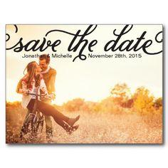 Elegant Photo Save the Date Post Cards stuff-sold-on-zazzle Save The Date Photos, Save The Date Postcards, Save The Date Cards, Photo Postcards, Vintage Save The Dates, Wedding Save The Dates, Plan My Wedding, Wedding Ideas, Dream Wedding