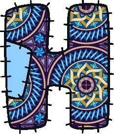 Oh my Alfabetos!: Alfabeto hecho con recortes de tela.