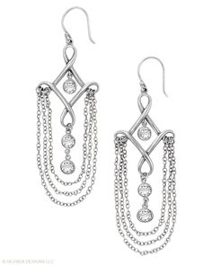 CLEOPATRA EARRINGS  $74    Gorgeous and exotic—just like the goddess you are. Cubic Zirconia, Sterling Silver.