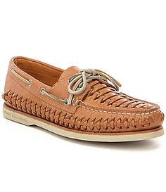 a7db24928270cd Sperry Mens Gold Cup Authentic Original Woven Boat Shoes
