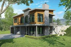 Contemporary House Plan with 4 Bedrooms and 3.5 Baths - Plan 1447