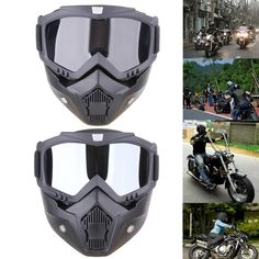 765b7ed92a6 Harley Style Detachable Motorcycle Goggles Mask Protect Padding Helmet Tool Motorcycle  Helmets Near Me
