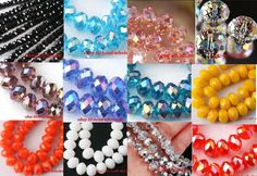 80pcs Rondelle Rhinestone Crystal Loose Beads by FindingSupply, $1.99