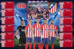 Calendarios para Photoshop: Calendario del 2018 del Atletico de Madrid para Ph...