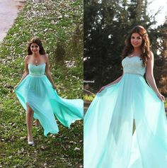 Cream Prom Dress Mint Green Sweetheart Evening Gown Bridesmaid Arabic Dresses 2015 Plus Size Lace Chiffon Cheap Sexy Girls Special Occasion Formal Wear Sparkly Prom Dresses From Marrysa, $115.92| Dhgate.Com