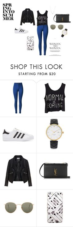 """""""Winter"""" by marianayasmin on Polyvore featuring moda, adidas Originals, Kate Spade, Zizzi, Yves Saint Laurent, Ray-Ban y Lonna & Lilly"""
