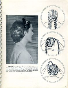 Wonderful Civil War Era Braided Hairstyle *Did you know they didn't french braid? French braids were not in use in the U. until the The post Civil War Era Braided . Vintage Hairstyles Tutorial, Retro Hairstyles, Braided Hairstyles, Wedding Hairstyles, Hairstyles Pictures, School Hairstyles, Updo Hairstyle, Civil War Hairstyles, Historical Hairstyles