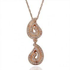 Hanging Pods 18 Karat Gold Plated Necklace