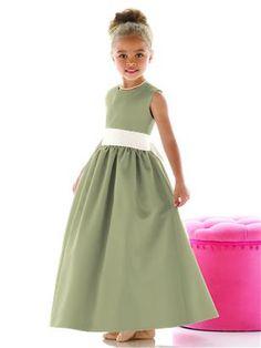 Sage Flower Girl Dresses