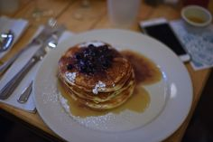 Love is food for the soulBest blueberry buttermilk pancakes in town? Clinton Street Baking Company. Fluffy slices of heaven with a maple butter instead of syrup. Don't forget that cash is king at this place.  4 Clinton St, New York, NY 10002 (646) 602-6263