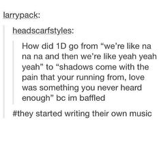 They started writing their own music....