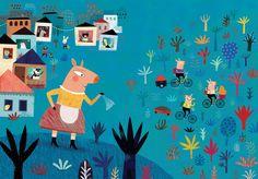 Mariana Ruiz Johnson Illustrations: Three Little Pigs, Unaluna Publisher, 2014