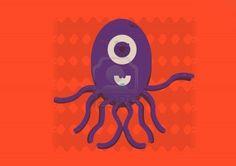 #illustration of purple #octopus #123rf #stockphoto #microstock