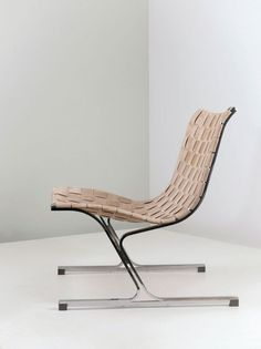 Ross Franklin Littell; Chromed Steel 'PLR 1' Chair for ICF Cadsana 1968.: