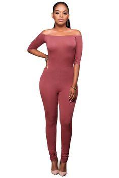 ae4b148a6c Black Bardot Neckline Fashion Jumpsuit. Jumpsuits For WomenRompers WomenPink  FashionFashion OutfitsAutumn CasualWomens BodysuitBardotNight ...
