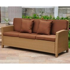 Item specifics     Condition:        New: A brand-new, unused, unopened, undamaged item in its original packaging (where packaging is    ... - https://lastreviews.net/outdoor/patio-and-deck/wicker-resin-steel-patio-sofa-with-cushions-id-2305518-honey-and-dark-chocolate/