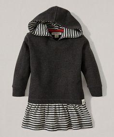 Look at this #zulilyfind! Ash Heather Stripe Organic Hooded Dress - Infant #zulilyfinds
