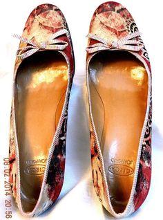 Circa Joan David Stephanie Wine Multicolor Paisley Fabric Leather Heels Shoes 10 #CircaJoanDavid #PumpsClassics