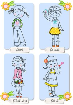"""""""little SPRING girls"""" machine embroidery design by K. Hand Embroidery Stitches, Machine Embroidery Patterns, Hand Embroidery Designs, Applique Designs, Embroidery Applique, Cross Stitch Embroidery, Spring Girl, Fabric Pictures, Applique Templates"""