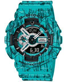 G-Shock Men's Analog-Digital Turquoise Strap Watch 55x51x17mm GA110SL-3A