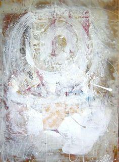 "Saatchi Online Artist Antoaneta Hillman; Painting, ""White energy"" #art"