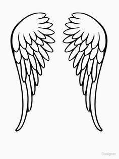 See the source image Wing Tattoo Angel Wings Drawing, Diy Angel Wings, Angel Wings Painting, Angel Wing Tattoos, Cardboard Painting, Diy Angels, Angel Crafts, Angel Art, String Art