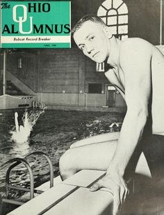The Ohio Alumnus, April 1959. Tom Burns, a junior at Ohio University, won second place at the NCAA finals. :: Ohio University Archives