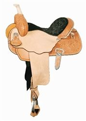 The original Ultimate Saddle. Square skirt with floral tooling. Forward hung stirrups. Comes in Ultra Lite, Regular Oil or Antique. CALL TO ORDER