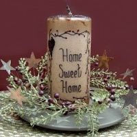 Shop for flameless Country Battery Timer Candles here at Lake Erie Gifts & Decor. Give your home warmth and country charm. Primitive Patterns, Primitive Crafts, Country Primitive, Diy Candles, Pillar Candles, Decorative Candles, Candels, Country Crafts, Country Decor