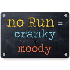 Running Metal Wall Art Panel - No Run = Cranky Moody