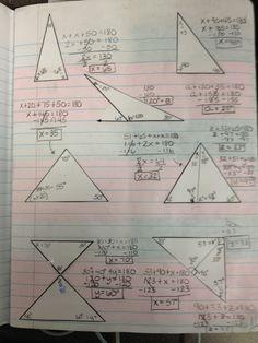 Angle Sum Theorem ISN Practice Page.