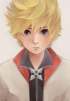 Roxas by Hachuu Roxas Kingdom Hearts, Kingdom Hearts Characters, Final Fantasy, Kindom Hearts, Fanarts Anime, Vanitas, Game Art, Disney, Character Design