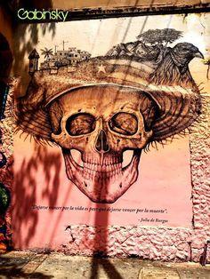 """July 17, 2013   Graf DD 17C """"Dejarse vencer por la vida, es peor que dejarse vencer por la muerte."""" Julia de Burgos (1914 – 1953) *Uno de mis favoritos. — at Ave. José De Diego, Santurce, Puerto Rico."""