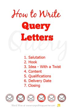 How to write query letters with Word Wise at Nonprofit Copywriter Writing Resources, Blog Writing, Writing Tips, Writing A Thesis Statement, Book Proposal, Common Core Writing, Writing Anchor Charts, Professional Writing