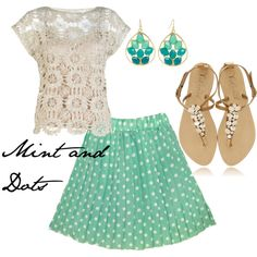 Mint and Dots. I'm in love with this top.